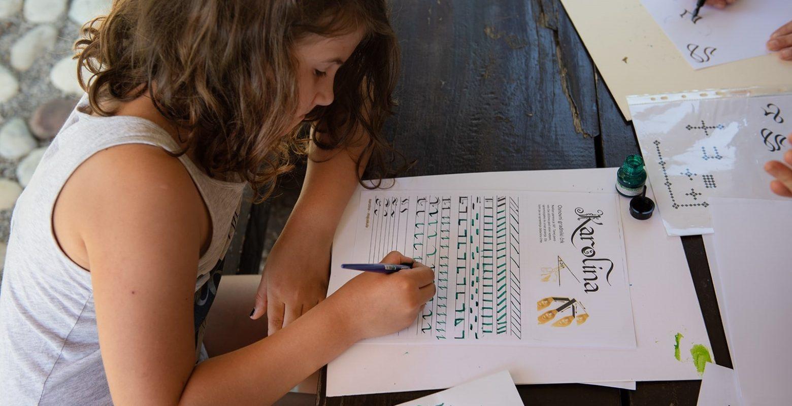Do zdravja otrok z vajami kaligrafije